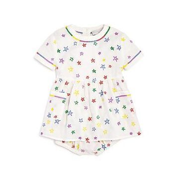 Stella McCartney Girls' Embroidered Star Dress & Embroidered Star Bloomers - Baby
