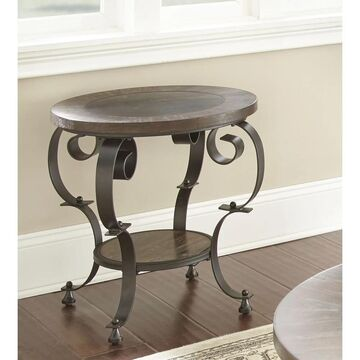 Mayview Round End Table with Bluestone Insert by Greyson Living - 24
