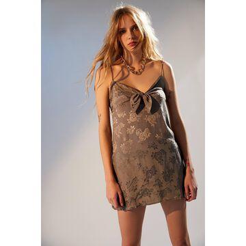 Motel Ronina Tie-Front Mini Dress