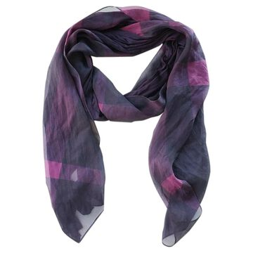 Burberry Purple Silk Scarves
