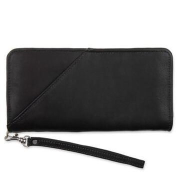 Piel Leather Executive Travel Wallet in Black