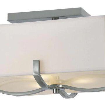 Canarm Palmer 15-in Brushed Nickel Semi-flush Mount Light | IFM422A14BN