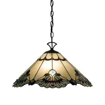 Warehouse of Tiffany Indoor Chandeliers Bronze - Tiffany-Style Courtesan Hanging Lamp
