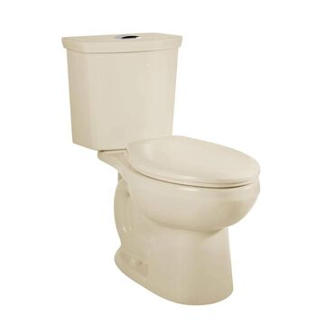 American Standard H2Option Bone Dual Flush Elongated Chair Height 2-Piece WaterSense Toilet 12-in Rough-In Size in Off-White | 2886218.021