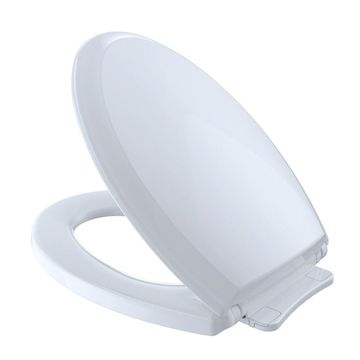 Toto Guinevere SoftClose Non Slamming, Slow Close Elongated Toilet Seat and Lid, Cotton White (SS224#01)