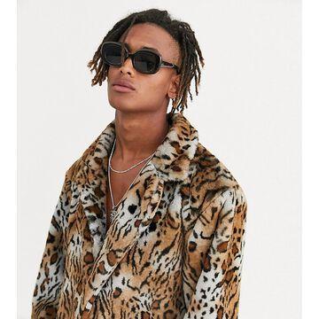 Heart & Dagger oversized jacket in faux fur-Brown