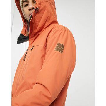 Billabong All Day ski jacket in orange