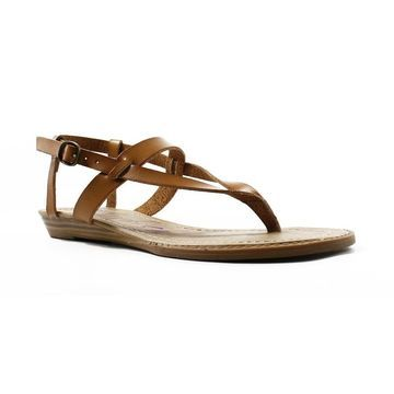 Blowfish Womens Berg Brown Ankle Strap Flats Size 6