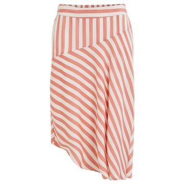 **Vila Coral and White Candy Skirt