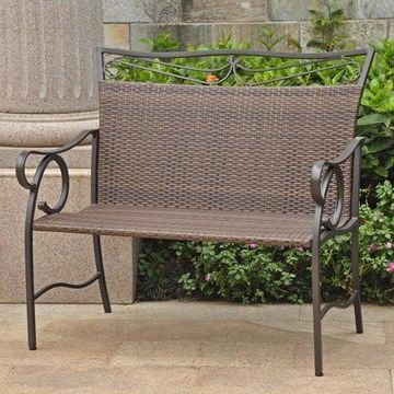 International Caravan Valencia Resin Wicker/ Steel Loveseat