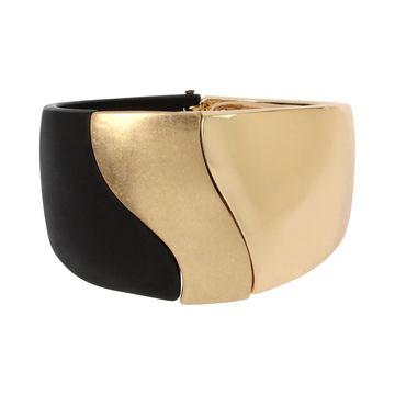 Gold-Tone Colorblock Bangle Bracelet