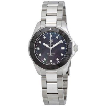 Tag Heuer Aquaracer Black Mother of Pearl Diamond Dial Ladies Watch