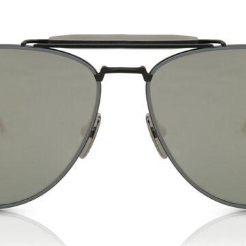 Thom Browne TB-015/S BLK-IRN-GRY Men's Sunglasses Black Size 61