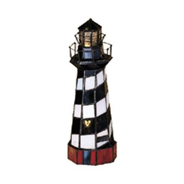 Meyda Tiffany 20539 Cape Hatteras Lighthouse Accent Lamp, Copperfoil F