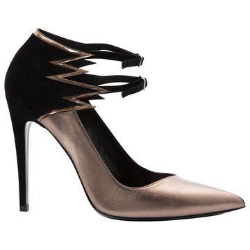 Barbara Bui Gold Leather Heels