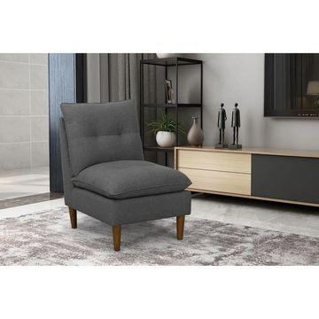 HomePop Grey Pillowtop Accent Chair