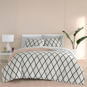 Now House by Jonathan Adler Martine King Duvet Cover Set in Blush
