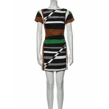 Striped Mini Dress White