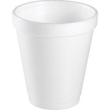 Dart, DCC8J8CT, Insulated Foam Cups, 1000 / Carton, White, 8 fl oz