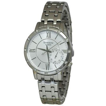 Casio Sheen Women's White Dial Watch