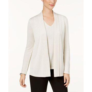 Kasper Womens Open-Front Cardigan Sweater