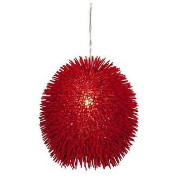 Varaluz Urchin 1-Lt Pendant, Super Red