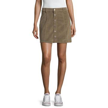 Ymi Womens Stretch Short A-Line Skirt-Juniors