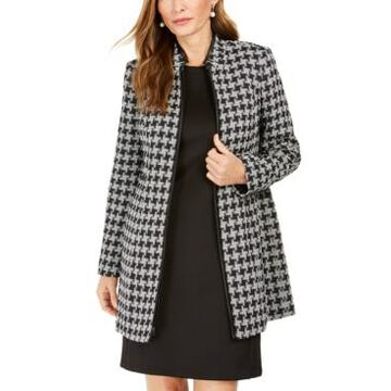 Kasper Houndstooth Printed Topper Jacket