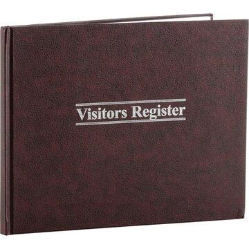 Wilson Jones, WLJS490, 112-Page Visitor Register Book - 1,500 Entries, 1 Each