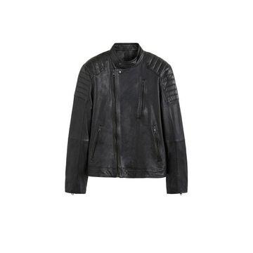 MANGO MAN - Black nappa biker jacket black - XL - Men