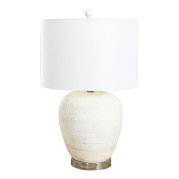 Cooper Ceramic Table Lamp Cream - Abbyson Living