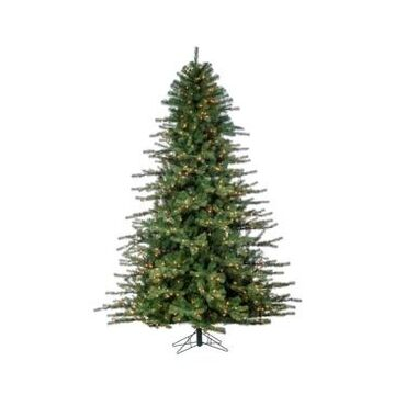 Sterling 7.5-Foot High Layered Norfolk Pine Pre-Lit Tree with Clear White Lights
