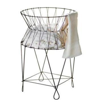 St. Croix Kindwer Vintage Wire Laundry Basket Hamper