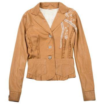 John Galliano camel Leather Jackets