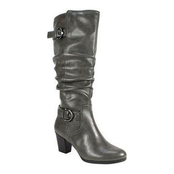 Rialto Women's Farewell Tall Boot Dark Grey Tumbled Polyurethane