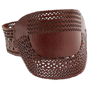 Dries Van Noten Brown Leather Belts