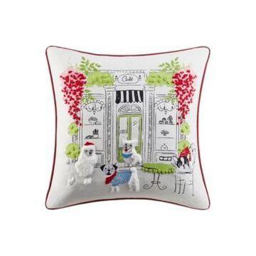 "Jla Home Paris Cafe 20"" x 20"" Decorative Pillow"