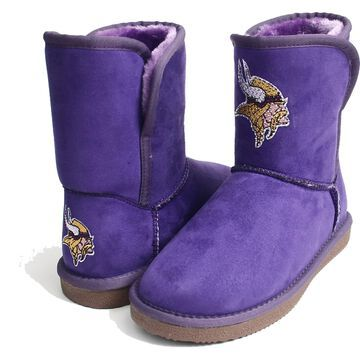 Women's Minnesota Vikings Cuce Touchdown Boots