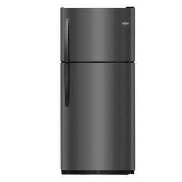 Frigidaire 20.4-cu ft Top-Freezer Refrigerator (Black Stainless Steel)