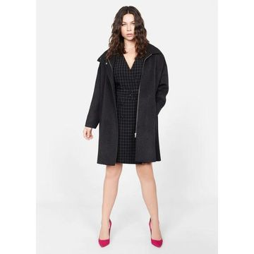 Violeta BY MANGO - Check belt dress black - 12 - Plus sizes