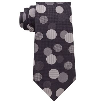 Sean John Gray Men's One Size Multi Exploded Dot Slim Silk Neck Tie