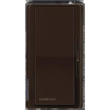 Lutron Diva Single-Pole Brown Rocker Light Dimmer