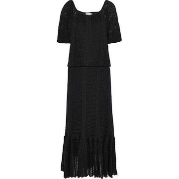 Redvalentino Fluted Crochet-knit Maxi Dress
