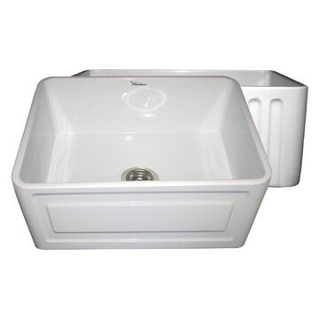 Reversible Series Fireclay Sink, White, 24