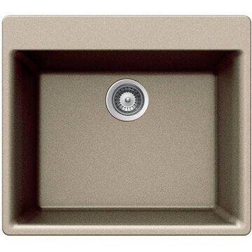 Houzer G-100 Taupe Quartztone Series Top-Mount Single-Bowl Granite Kitchen Sink