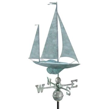 Yawl Blue Verde Copper Weathervane by Good Directions