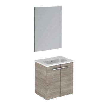 WS Bath Collections Start 20-in Sandy Gray Single Sink Bathroom Vanity with Ceramic White Ceramic Top (Mirror Included)   START 50 PACK SG