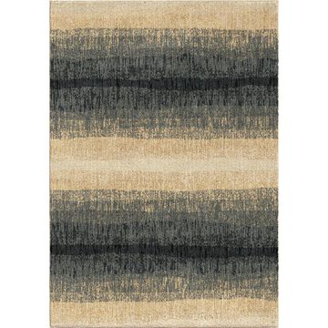 Orian Rugs Fading Bl Lines 5 x 8 Blue Indoor Stripe Mid-Century Modern Area Rug