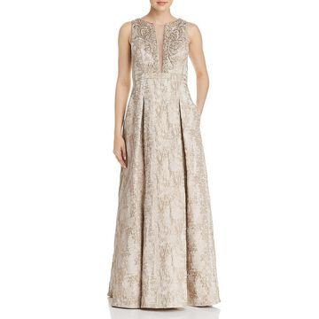 Eliza J Womens Metallic Embellished Formal Dress