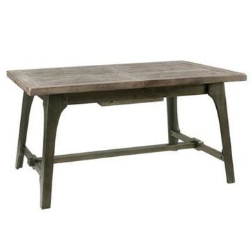 INK+IVY Oliver Extension Dining Table in Grey